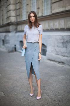 Тенденция: юбка с запахом 5