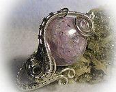 Lavender Russian Charoite Wire Wrapped Stone Bracelet