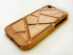 Geometric Cherry Wood iPhone 5s Case - Real Wood iPhone 5 5s Case - Wooden iPhone 5 Case - Gear for iPhone - Personalized Phone Cases
