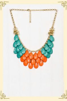 Falling For You Necklace in Orange    $24    Beautiful color combination I am convinced would make my skin tone glow. :)
