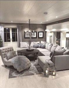 30 Charming Lighting Living Room Tips - Home Interior Design Living Room Decor Cozy, Elegant Living Room, Living Room Seating, Living Room Grey, Living Room Lighting, Home Living Room, Apartment Living, Living Room Designs, Sectional Living Rooms