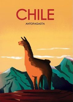 Antofagasta Chile Vintage Poster Enhanced Matte Paper perfect for your wall ! Vintage Hawaii, Illustrations Poster, Kissimmee Florida, Retro Poster, Poster Vintage, Funny Animal Quotes, Vintage Travel Posters, Vintage Ski, Vintage Style