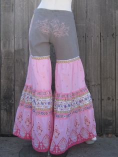 Womens Bell Bottom Bloomers Upcycled Eco by DewdropzGarden on Etsy, $52.00