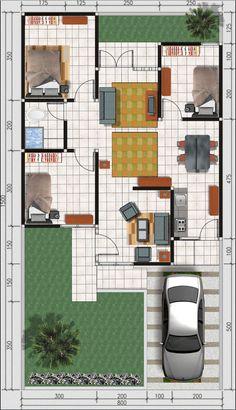 Denah Rumah 361062095128624333 - Source by morringer House Layout Design, House Layout Plans, Simple House Design, Minimalist House Design, Home Room Design, House Layouts, Home Design Floor Plans, House Floor Plans, Simple House Plans