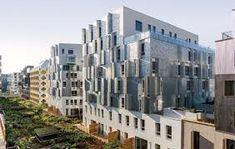 Gallery - Calberson Housing / Atelier d'Architecture Brenac-Gonzalez - 3 Facade Architecture, Contemporary Architecture, Student House, Social Housing, Urban Renewal, New Paris, Cladding, Multi Story Building, Exterior