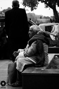 Loneliness by Gurpreet Singh on 500px #Loneliness #black and white #blackandwhite #darkness #life #old #old woman #sad #sorrow #street photography #woman #gsmeraki