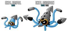 Fakemon: EX104 - EX105 by MTC-Studios on DeviantArt
