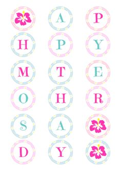 Printable MotherS Day Banner  Party Kit  Oh Happy Day  Party