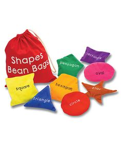 Look what I found on #zulily! Shapes Beanbag Set #zulilyfinds