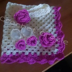 newborn baby girl rose set by crochetcraziehand on Etsy