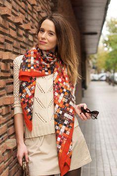 https://flic.kr/p/tP4J4D | 4b-street_style-looks-outfits-hermes_scarf-vanessa_bruno_bag-cabas-dior_mohotani_sunglasses-macarena_gea