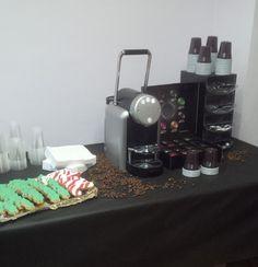 Hora del café y las galletas navideñas
