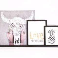 @boho_addict - On The Wall - Love Warriors Bullhead Decor - The Birds And The Bees - Pineapple Wall Art Le Petit Léon