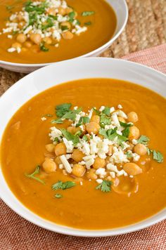 Slimming Eats Syn Free Spicy Roasted Parsnip and Sweet Potato Soup - gluten free, vegetarian, Slimming World and Weight Watchers friendly Roasted Veg Soup, Parsnip Recipes, Roasted Parsnips, Veggie Recipes, Healthy Recipes, Healthy Soups, Vegan Soups, Veggie Meals