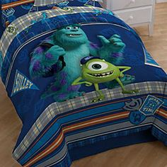 Disney Monsters University Comforter | Disney StoreMonsters University Comforter - Transform their room into a dorm with this Monsters University Comforter. Students Sulley and Mike spend their time hanging out on this bright, fun bedding that'll make it the coolest pad on campus. Goes great with matching Sheet Set.