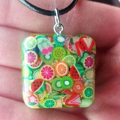 FRUITY RESIN JEWELRY by Jenni Dodd - Super cute fruit slices layered in Brilliant Resin make a sweet treat necklace! See more by Jen at NalaniStar.etsy.com