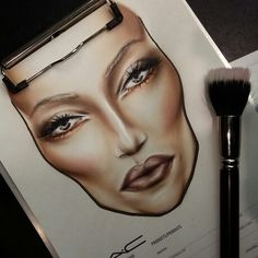 facechart by Barbara Niemczyk M.A.C makeup artist Poland