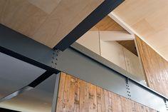 123DV Church Loft oak wooden flooring reused for wallcovering