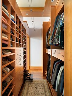 Mike Knight Construction Save to Ideabook Email Photo	 Higher-end custom-designed closets can be beautifully detailed, as shown here. Tho...