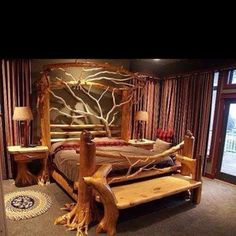 Amazing log cabin bed