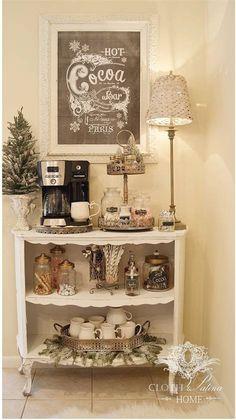 Coffee Bars In Kitchen, Coffee Bar Home, Home Coffee Stations, New Kitchen, Kitchen Decor, Coffe Bar, Decorating Kitchen, Coffee Bar Ideas, House Coffee