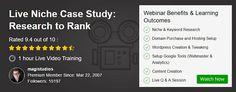 Webinar - Niche Case Study, Research to Rank
