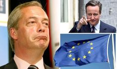 Nigel Farage and David Cameron