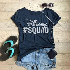 Women's T Shirt. Women's Relaxed Fit. Women's Fun T Shirt. Cute Disney Outfits, Outfit For Disney World, Disney Clothes, Family Vacation Shirts, Disneyland Shirts For Family, Brunch Shirts, Boyish Style, Bachelorette Party Shirts, Disney Trips