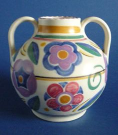 Poole Pottery GZ Pattern Vase by Truda Carter c1935