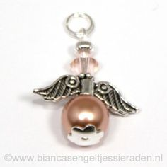 Hangertje Beschermengeltje Crystal Rose Gold Silk http://www.biancasengeltjessieraden.nl/c-2017591/beschermengeltjes-hangertjes/