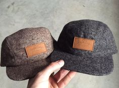 Custom 5 panel hat  camp hat  twill wool hat by petrifieddesign