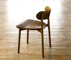 Jason Lewis Furniture, C02 - dining chair with bent wood back. Shown in black walnut.
