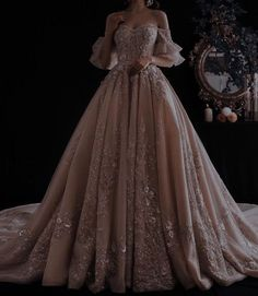 Quince Dresses, Ball Dresses, Prom Dresses, Wedding Dresses, Ball Gowns Prom, Queen Aesthetic, Princess Aesthetic, Aesthetic Green, Flower Aesthetic