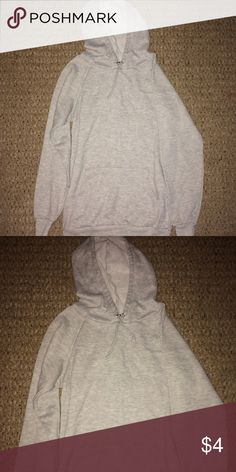 Rue 21 Gray Hoodie Like new gray hooded sweatshirt. Size small but pretty long for a small. Rue 21 Tops Sweatshirts & Hoodies