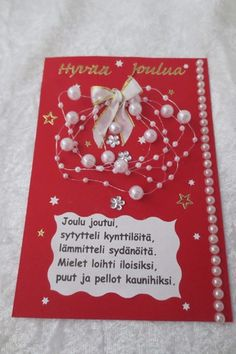 Joulukortteja :: Elisedesign-and-bake Christmas Crafts, Xmas, Diy Cards, Diy And Crafts, Scrapbook, Ornaments, Baking, Gifts, Handmade Christmas Crafts