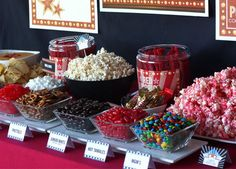 Party Food Ideas For Adults Girl Night Snacks Popcorn Bar Trendy Ideas Sleepover Party, Birthday Party Snacks, 13th Birthday Parties, 14th Birthday, Slumber Parties, Movie Party Snacks, Birthday Ideas, Teenage Girls Birthday Party Ideas, Kids Movie Party