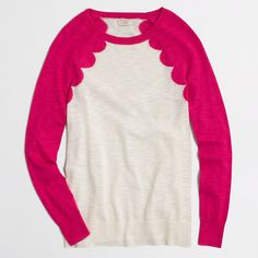 Factory scallop intarsia heathered sweater : crewnecks & boatnecks | J.Crew Factory