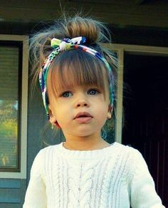 Love this style, not just for a little girl, but I might try! Adorable on her!