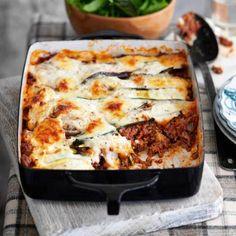 No pasta lasagna - 335 cal; 8.7g fat; 37.1g protein http://www.bariatriccookery.com/pastafree-lasagne