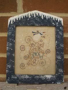 Snowman Alphabet   Framed CrossStitch