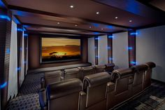 Modern Whimsical Home Theater Cedia Design Ideas