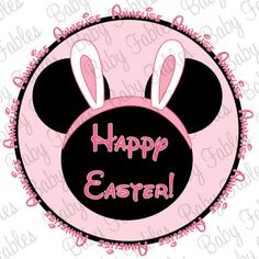 Easter IRON ON transfer Mouse Ears for girls OR by babyfables, $5.00