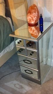 DIY mirrored nightstands!