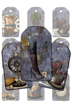 Consider the possibilities of printable Steampunk craft labels and papers. You could use them as gift tags, diary pages, for scrapbooking fun, and more. Steampunk Theme, Steampunk Crafts, Steampunk Design, Printable Crafts, Printable Tags, Printable Paper, Free Printables, Steampunk Images, Compass Design