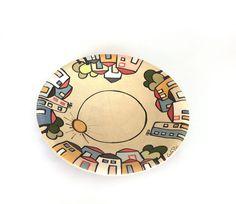 Piatto centrotavola in ceramica collezione Urbe | KRISMAKER