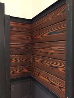 Japanese Burnt Wood Largest producer & supplier of Yakisugi Wood, Japanese charred wood & Japanese burnt wood siding in USA, Canada. Call us on for cost estimate. Interior Wood Shutters, Wood Floor Design, Charred Wood, House Siding, Wood Siding, Wood Burning, Cladding, Wood Furniture, Wood Projects
