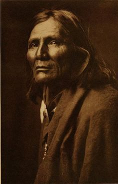 Alchise, 1853-1928, Chief White Mountain Apache (Western Apache). Indian Scout (Sergeant). Medal of Honor. By Edward S. Curtis, 1906.