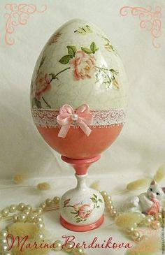 """Купить Пасхальное яйцо """"Розы"""" - розовый, Пасха, пасхальный сувенир, пасхальный подарок, пасхальное яйцо"""