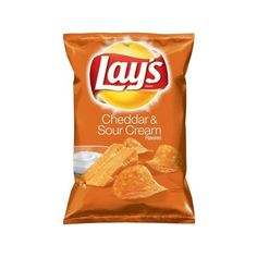 Lays Cheddar Sour Cream Flavored Potato Chips, 7.75 oz. Walmart.com ❤ liked on Polyvore featuring food