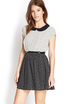 Printed Peter Pan Collar Dress #F21StatementPiece